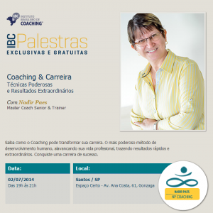 Folder palestra Coaching e Carreira